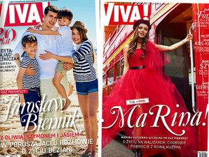 20. urodziny VIVY!, Martyna Wojciechowska, Jarosław Bieniuk z dziećmi, Marina Łuczenko-Szczęsna, okładki, VIVA!, jamnik