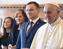 Agata Duda, Andrzej Duda, papież Franciszek, Kinga Duda