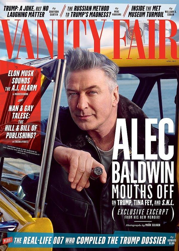 "Alec Baldwin, ""Vanity Fair'' 2017, Alec Baldwin na okładce ""Vanity Fair''"