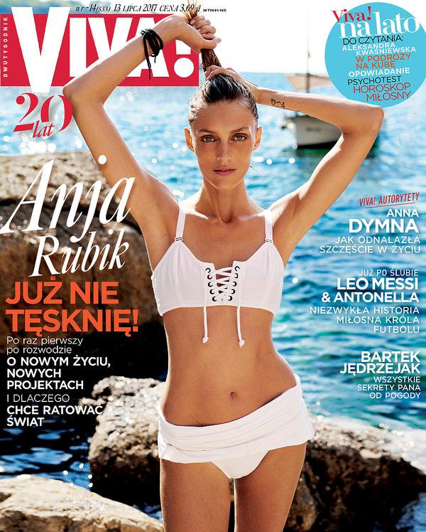 Anja Rubik, VIVA! lipiec 2017, okładka 14/2017, okładka