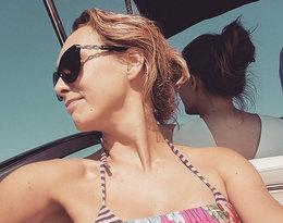 Anna Kalczyńska w stroju kąpielowym