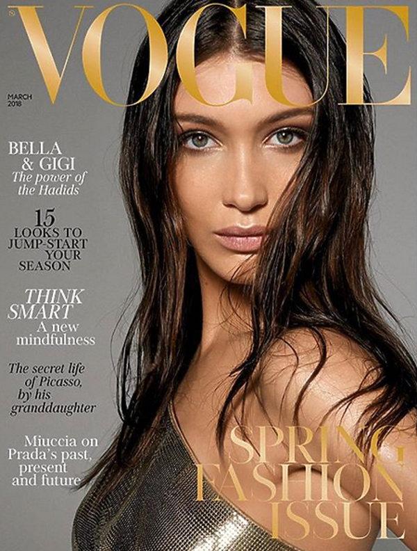 """Bella Hadida, Bella Hadid na okładce """"Vogue'a''"""