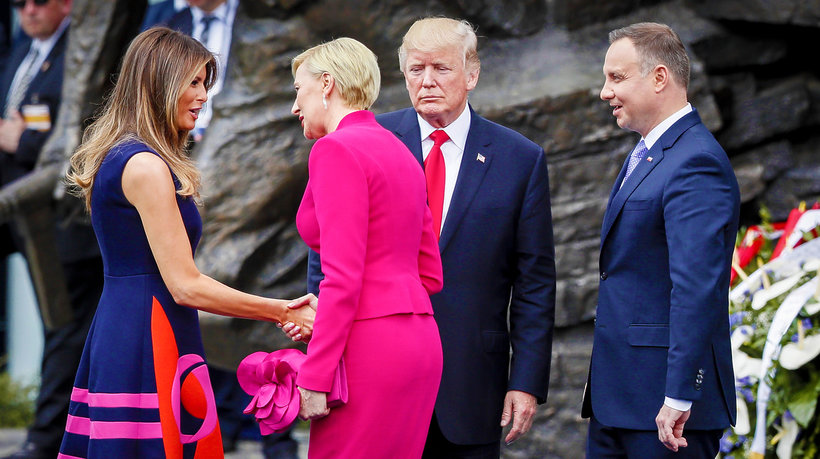 Donald Trump, Agata Duda, Andrzej Duda, Melania Trump, main topic