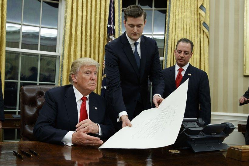Donald Trump, Gabinet Owalny, Biały Dom, viva.pl