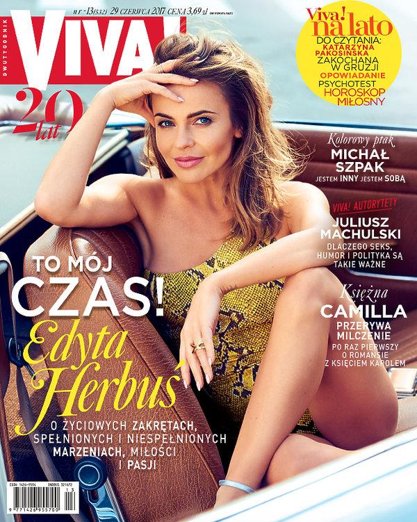 Edyta Herbuś, VIVA! czerwiec 2017, okładka