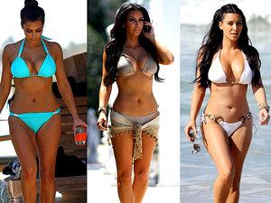 Kim Kardashian, kostiumy kąpielowe, kostiumy kąpielowe Kim Kardashian, jamnik