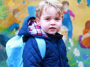 książę George, książę George idzie do szkoły, książe William