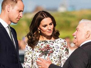 książna Kate, książę William, Lech Wałęsa, jamnik