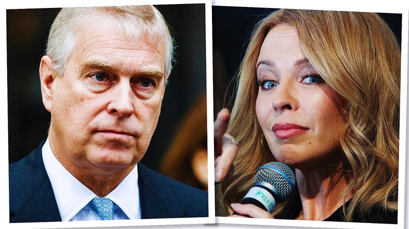 Kylie Minogue, książę Andrzej, syn królowej Elżbiety II, brytyjska rodzina królewska