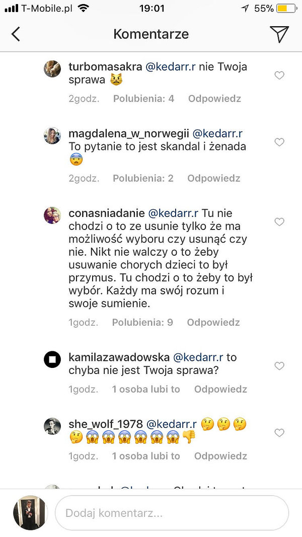 Magda Mołek, screeny Instagram