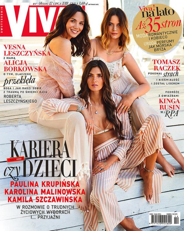 Paulina Krupińska, Karolina Malinowska, Kamila Szczawińska, VIVA! lipiec 2018, VIVA! 14/2018