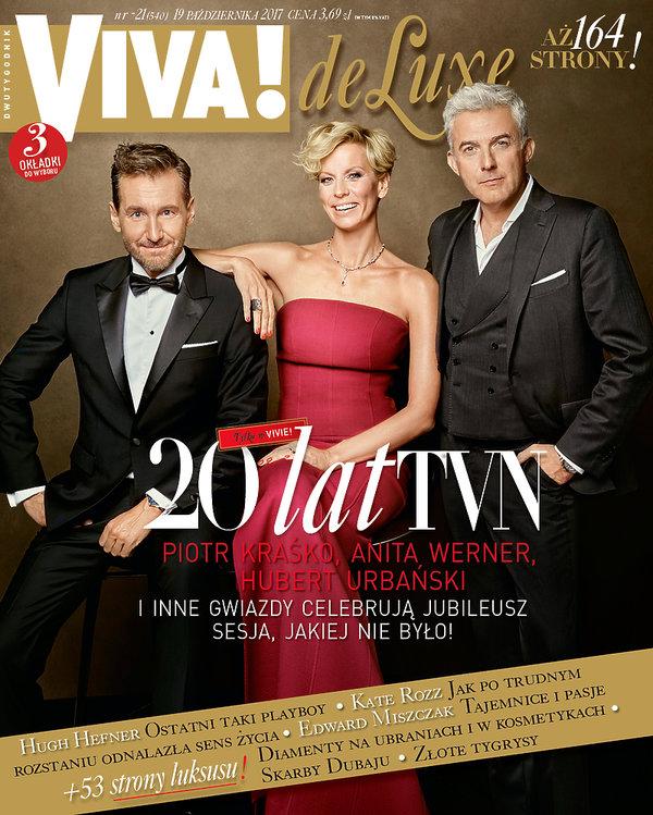 Piotr Kraśko, Anita Werner, Hubert Urbański, VIVA! październik 2017, okładka