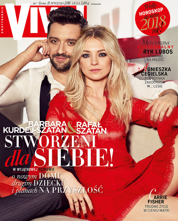 Rafał Szatan, Barbara Kurdej-Szatan, VIVA! styczeń 2018, okładka