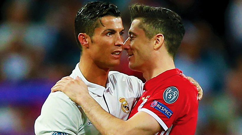 Robert Lewandowski, Cristiano Ronaldo, main topic