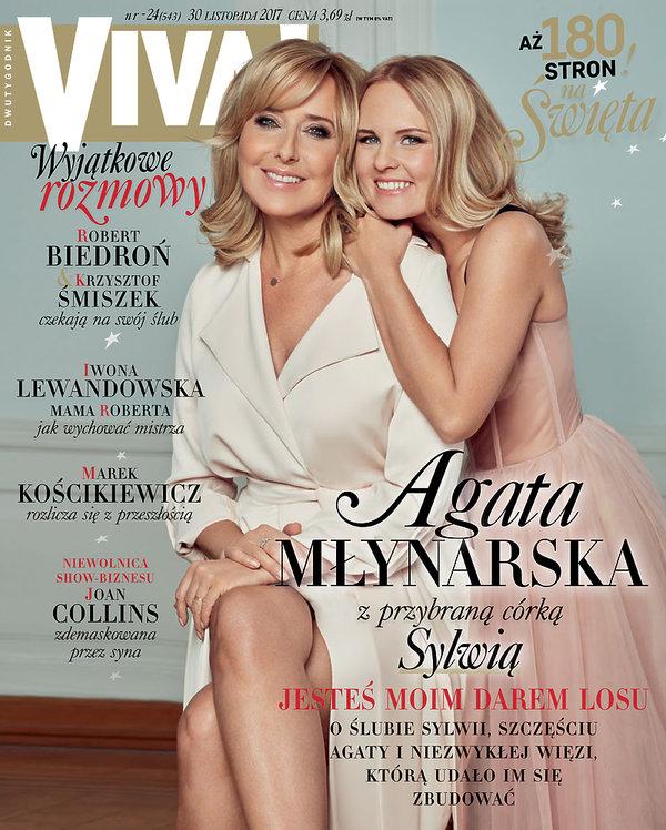 Sylwia Mor, Agata Młynarska, VIVA! listopad 2017, okładka