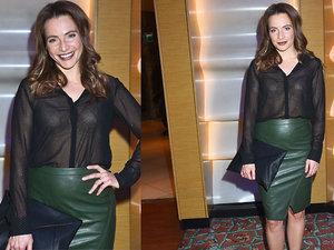 Anna Dereszowska w zielonej spódnicy