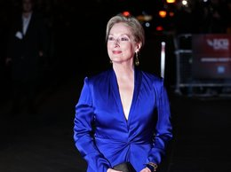 Meryl Streep w niebieskiej sukni