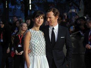 Eleganccy Benedict Cumberbatch z żoną Sophie Hunter