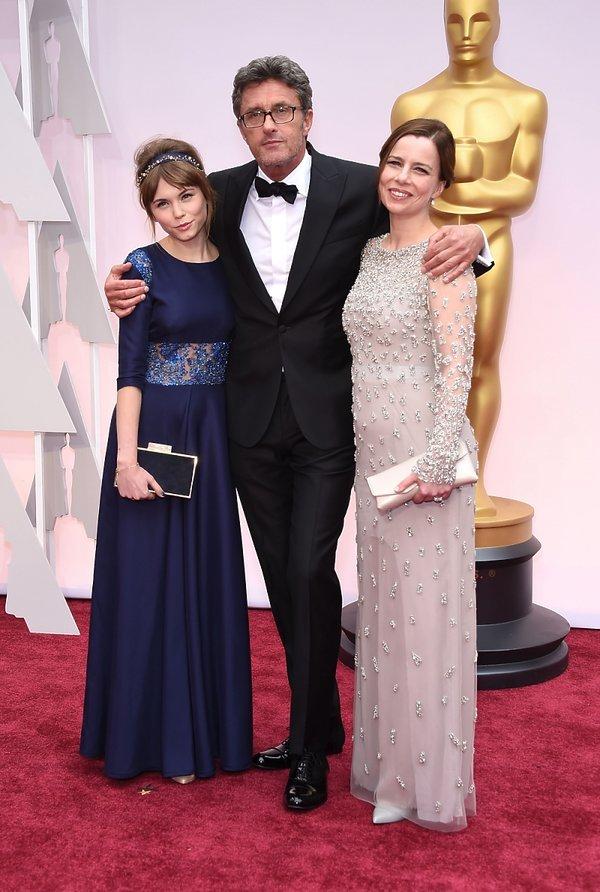 Agata Kulesza, Agata Trzebuchowska i Paweł Pawlikowski na ceremonii rozdania Oscarów