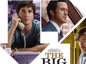 Big Short - kadr z filmu z Bradem Pittem i Ryanem Goslingiem