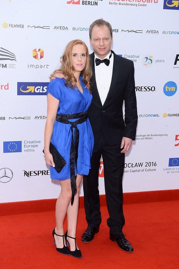 Maciej Stuhr na rozdaniu Europejskich Nagród Filmowych 2016