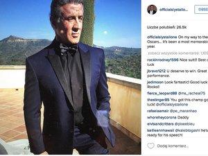 Sylvester Stallone w garniturze idzie na Oscary 2016