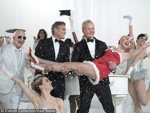 Miley Cyrus, Bill Murray, George Clooney pozują razem do zdjęć