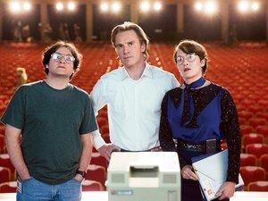 """Michael Stuhlbarg, Michael Fassbender i Kate Winslet w filmie """"Steve Jobs"""""""