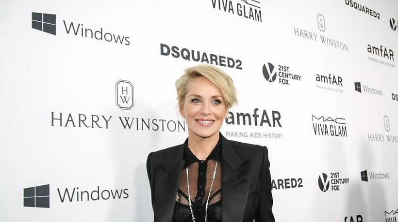 Sharon Stone na gali amfAR
