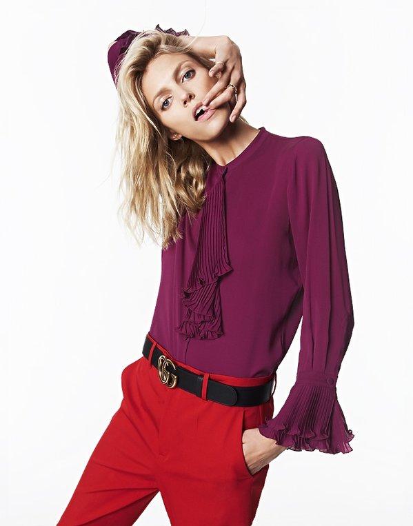 Anja Rubik w stroju Gucci