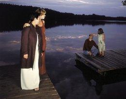 """Ewa Bem z córkami Pamelą i Gabrysią oraz mężem Ryszardem Sibilskim, """"Viva!"""" październik 2001"""