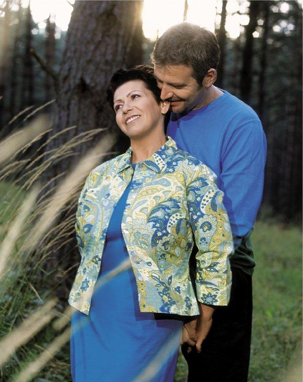 Ewa Bem z mężem Ryszardem Sibilskim,