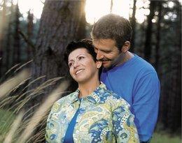 """Ewa Bem z mężem Ryszardem Sibilskim, """"Viva!"""" październik 2001"""