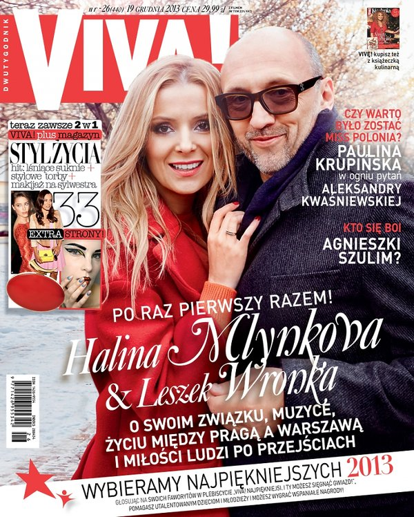 Halina Mlynkova i Leszek Wronka, Viva! grudzień 2013