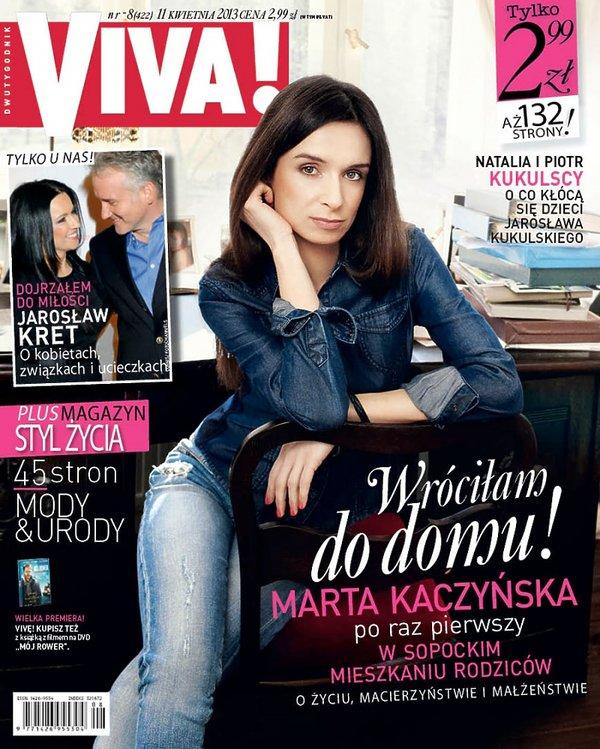 Marta Kaczyńska na okładce Vivy!, kwiecień 2013