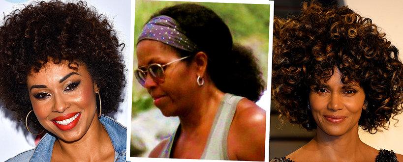 Michelle Obama W Naturalnych Włosach Afro Vivapl