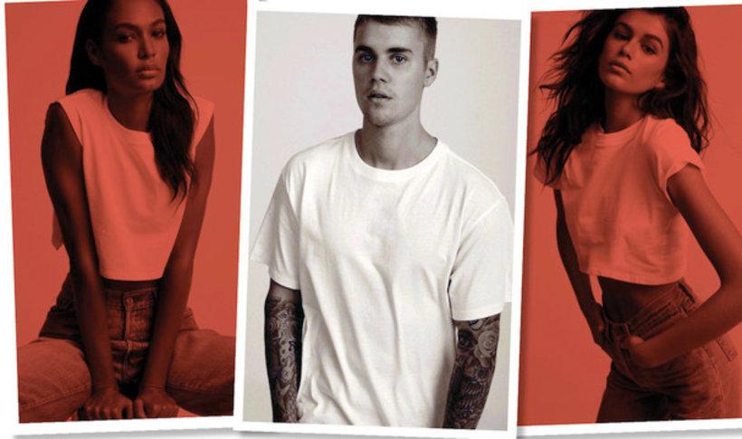 Justin Bieber zaprojektował kolekcję białych T-shirtów