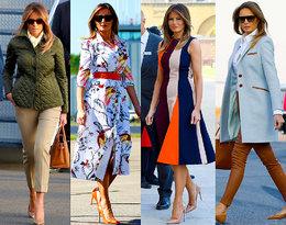 Zobaczcie stylizacje Melanii Trump z podróży do Europy!