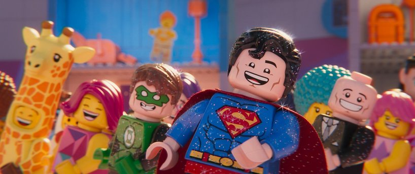 (L-R) Green Lantern (JONAH HILL), Superman (CHANNING TATUM) and Lex Luthor (IKE BARINHOLTZ) in a scene from the animated adventure