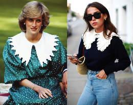 Księżna Diana uwielbiała bluzki z kołnierzykiem. Wiemy, gdzie kupić podobne fasony!