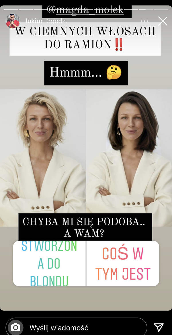 Magda Mołek w długich włosach