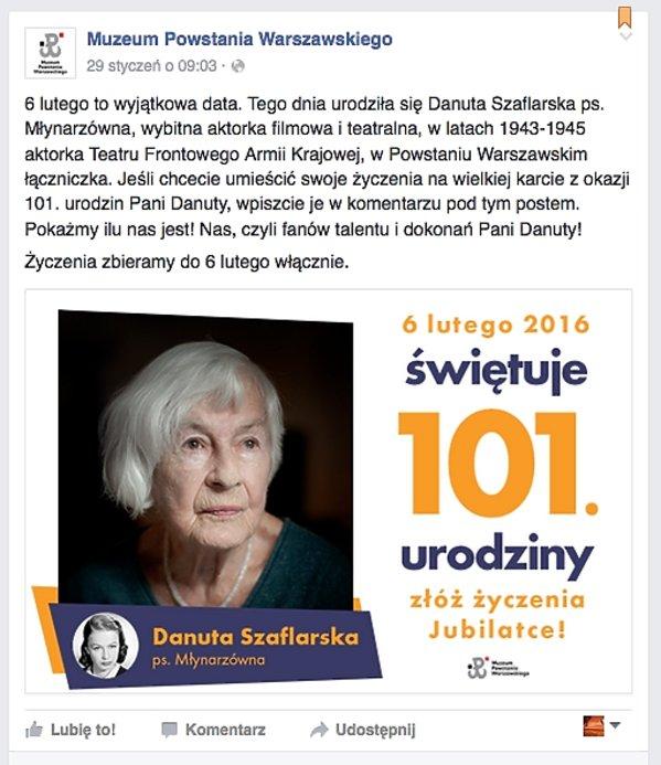 101 urodziny Danuty Szaflarskiej
