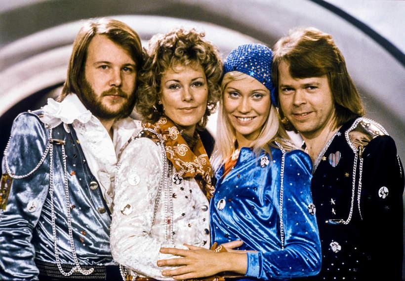 ABBA,  Benny Andersson, Anni-Frid Lyngstad, Agnetha Faltskog and Bjorn Ulvaeus, 1974 rok