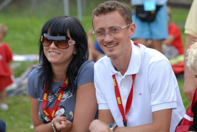 Adam Małysz z żoną, Izabela Małysz, 2007 rok