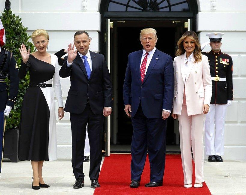 Agata Duda, Andrzej Duda, Donald Trump, Melania Trump