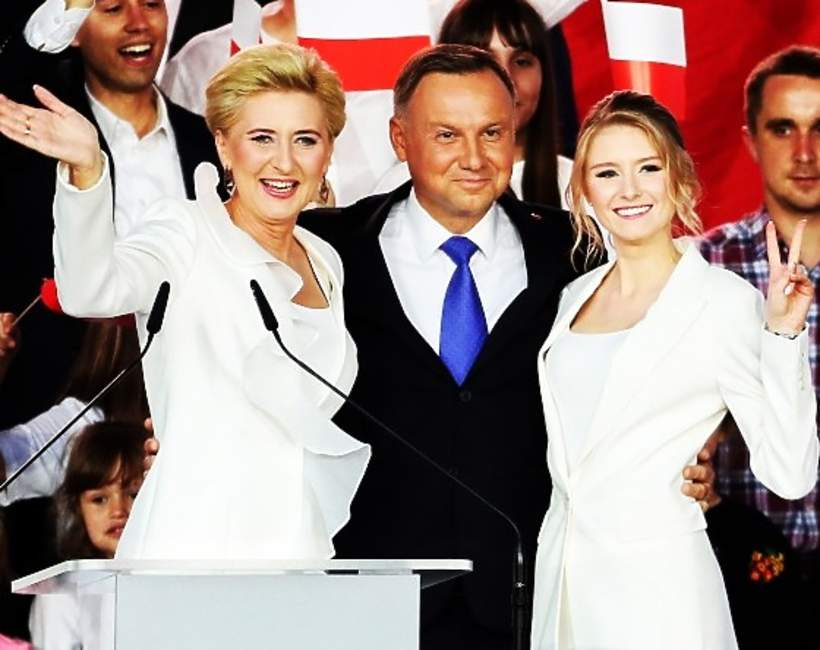 Agata Duda, Andrzej Duda,Kinga Duda, wybory 2020