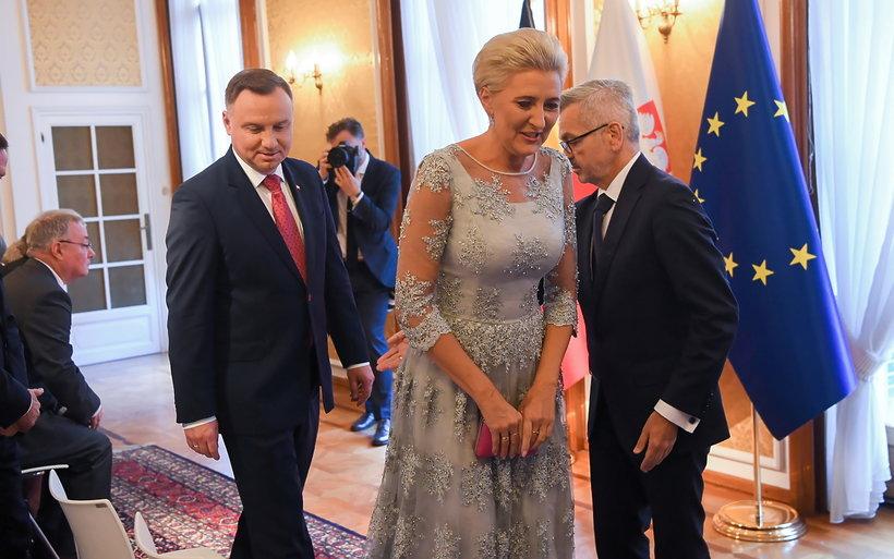 Agata Duda i Andrzej Duda, wizyta w Belgii 2019
