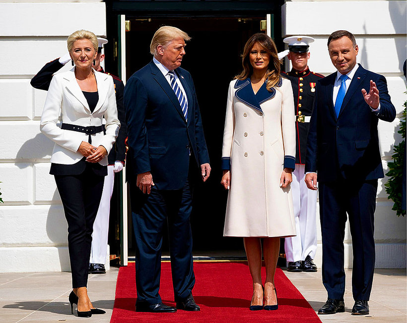 Agata Duda, Melania Trump, Andrzej Duda, Donald Trump