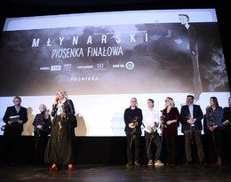 Agata Młynarska na premierze filmu o Wojciechu Młynarskim