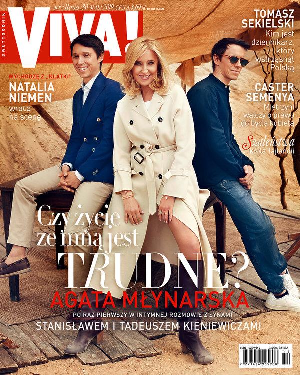 Agata Młynarska z synami, VIVA! nr 11, OKŁADKA, maj 2019